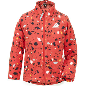 DIDRIKSONS Monte Printed 4 Fleece Jacket Kids, poppy terazzo